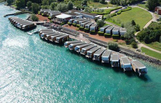 A hotel that floats in Switzerland: Hotel Palafitte, Lake Neuchâtel